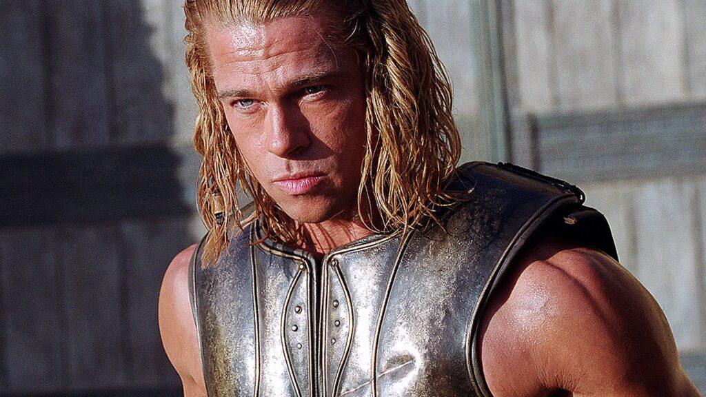 Brad Pitt in Troy di Wolfgang Petersen