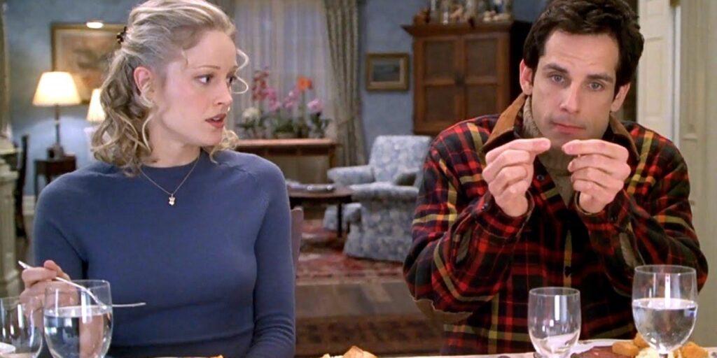 Ben Stiller mentre munge la gatta.....