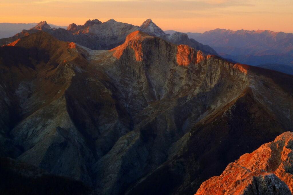 Le spettacolari Alpi Apuane